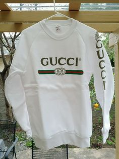 VTG 80'S GUCCI SPELL OUT SWEATER SHIRT MEN'S LARGE NEW NWOT MINT RARE HIP POP