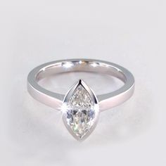 Classic Solitaire Diamond Engagement Ring in Bezel Setting