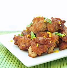 """6 minutes to skinny - Low Carb Orange Chicken (Gluten Free) - Watch this Unusual Presentation for the Amazing to Skinny"""" Secret of a California Working Mom Gluten Free Recipes, Low Carb Recipes, Healthy Recipes, Healthy Meals, Orange Recipes, Asian Recipes, Asian Foods, Oriental Recipes, Entree Recipes"""