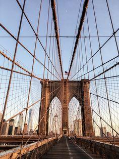 Brooklyn Bridge / New York Manhattan / Brooklyn / Morning run / Travel / Noora&Noora nooraandnoora.com