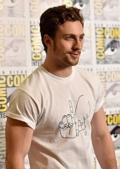 Aaron Taylor-Johnson attends Marvel's Hall H Press Line for 'Ant-Man' and 'Avengers: Age Of Ultron' during Comic-Con International 2014 at San Diego Convention Center on July 26, 2014 in San Diego, California.