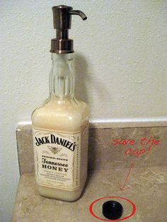 Crafty Girl Unleashed: Alcohol Bottle Soap Dispenser    For The Kitchen