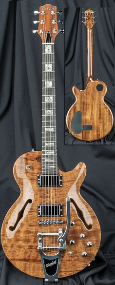 Carvin Guitars SH575B Semi-Hollow Carved Top Synth Access Guitar with Bigsby Vibrato Serial Number 118839