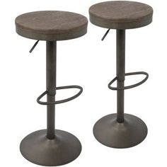 Shop for Dakota Industrial Adjustable Barstool / Counter Stool (Set of 2). Get free shipping at Overstock.com - Your Online Furniture Outlet Store! Get 5% in rewards with Club O!
