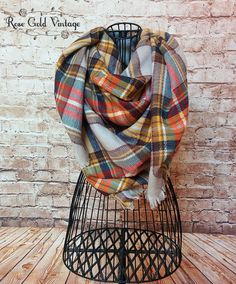 Blanket scarves are another must have this season!