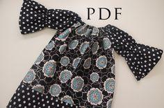 Peasant Top Pattern Girls Free | The Brooke Dress or Shirt - SEWING PATTERN, Long/Short Sleeve