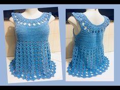 Fabulous Crochet a Little Black Crochet Dress Ideas. Georgeous Crochet a Little Black Crochet Dress Ideas. Crochet Summer Dresses, Black Crochet Dress, Crochet Skirts, Crochet Clothes, Gilet Crochet, Crochet Collar, Crochet Blouse, Crochet Woman, Diy Crochet