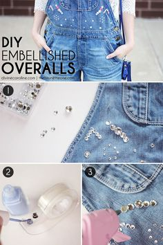 Bring back this old trend with some new DIY touches! #overalls #style #DIY