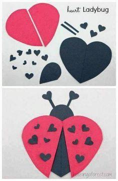 Ladybug Valentine's Day Craft
