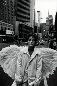 Lindbergh shoot starring Amber Valetta for Harper's Bazaar in 1993.