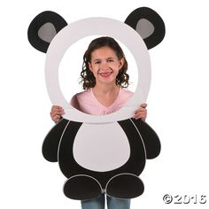 a fun photo op at your panda party bash with this Panda Party Photo Prop. A fun addition to your birthday party supplies, create a photo booth to . Panda Party, Panda Themed Party, Panda Birthday Party, Bear Party, Bear Birthday, Birthday Diy, 1st Birthday Parties, Panda Baby Showers, Panda Craft