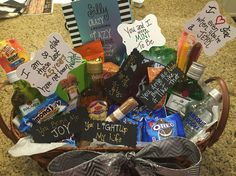 Happy 25th Anniversary gift basket for the hubby!!!