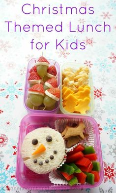 Simple Christmas Themed Lunch Ideas to Make for Kids How fun is this Christmas themed lunch for kids? With a few simple ingredients great reusable containers and a little imagination you can create a fabulous festive lunch for kids. Kids Lunch For School, Healthy School Lunches, Lunch Kids, School Snacks, School Meal, School School, Christmas Snacks, Kids Christmas, Simple Christmas