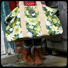 """Great"""" weekender"""" homemade bag. Now I just need someone to teach me how to sew a zipper."""