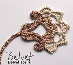 irish crochet flowers Flower from Bolero Cappuccino 4 pattern by Victoria Belvet- Crochet Bolero Pattern, Irish Crochet Patterns, Crochet Motifs, Freeform Crochet, Thread Crochet, Crochet Designs, Crochet Crafts, Diy Crafts, Crochet Leaves