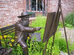 Monet - a bronze by Gary Price, in front of the Fine Arts Institute, 27 E. Edwards