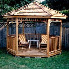 Our Gazebo Kits with detailed Plans enhance your outdoor garden or patio. A gazebo kit makes a perfect Hot Tub or Spa enclosures. Gazebo Sale, Diy Gazebo, Backyard Gazebo, Garden Gazebo, Pergola Kits, Gazebo Ideas, Diy Deck, Decking Ideas, Cheap Gazebo