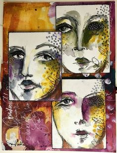 Gifts of holy spirit infographic journal challenge, art trading cards, mixed media journal, Mixed Media Faces, Mixed Media Art, Art Journal Pages, Art Journals, Mix Media, Art Simple, Art Trading Cards, Art Gallery, Art Journal Inspiration