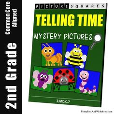 Grade 2 Telling Time Mystery Pictures Coloring Worksheets Coloring Worksheets, Coloring Pages, 2nd Grade Math Worksheets, Time Pictures, Color Activities, Telling Time, Grade 2, Mystery, This Or That Questions