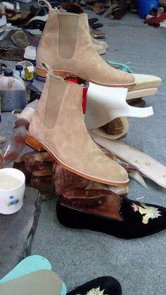 Handmade men's fashion mono tone ankle boot Men Chelsea boots boots  for men #Handmade #Ankleboots