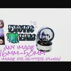 ExoticEars image plugs punk einstein 16mm&+ #glitter #glitterplugs #glittergauges #glitterearrings #einstein #punkeinstein #einsteinplugs #punkeinsteinplugs #plugs #gauges #stretchedears #gaugedears #plugsoveraninch #prettyplugs #rocker #emo #goth #cuteplugs #plugsforgirls #plugsforguys  #ears #bodymod #piercing #stretchedlobes #exoticears #galaxy #galaxyjewelry #galaxyearrings #galaxyplugs #galaxygauges