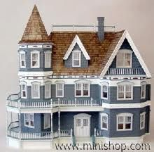 Queen Anne Dollhouse Kit by Real Good Toys Wooden Dollhouse Kits, Dollhouse Furniture, Dollhouse Miniatures, Dollhouse Bookcase, Barbie Furniture, Victorian Dolls, Victorian Dollhouse, Modern Dollhouse, Victorian Houses
