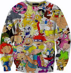 90's Vintage Nickelodeon Sweater Tshirt Crewneck Sweatshirt 1080p HD All Over Print