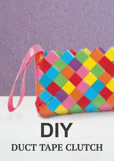 Fun & funky Duct Tape Clutches are a great project for teens to make!