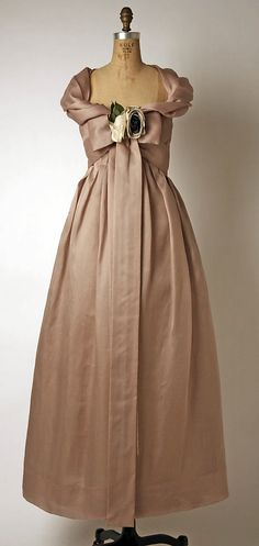 Dress, Evening  House of Dior (French, founded 1947)  Designer: Yves Saint Laurent (French (born Algeria) Oran 1936–2008 Paris) Date: spring/summer 1958