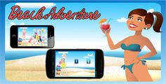 "Beach Adventure . Description: This is a game in the genre of ""dress up"" with beautiful graphics and pleasant soundtrack. These games are very popular among girls, and during its existence has gained a massive following of"