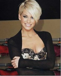 Sarah Harding Short Blonde Hairstyles