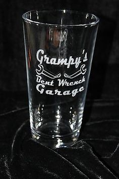Grampys-Bent-Wrench-Garage-Pub-Glass-Hand-Crafted-Deep-Sandblast-Etched