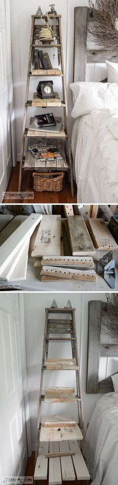 Check out how to make a DIY rustic stepladder for farmhouse style home decor @istandarddesign