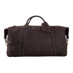Handmade Full Grain Leather Duffle Bag, Mens Weekend Bag