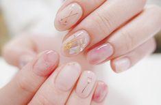 Check it out. Asian Nails, Korean Nails, Korean Nail Art, Asian Nail Art, Minimalist Nails, Nail Polish Art, Gel Nail Art, Nail Swag, Pretty Nails