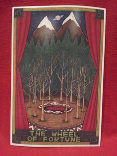 LARGE PRINT Twin Peaks Tarot Glastonbury Grove by MaiafirePrints, £10.00