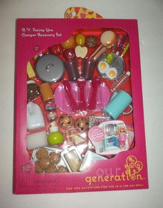 Our Generation RV Seeing You Camper Accessory Set NEW camping Girl Doll american #ourgeneration