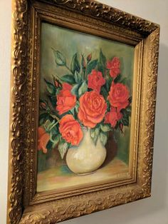 Shabby Chic Pink Rose Painting by CuratebyParaclete on Etsy