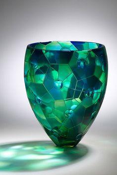 81 noirs Cristal Verre Mosaïque-Bright Aqua