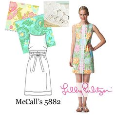 copycat lilly pulitzer dress pattern | Total price: $30 (a real Lilly would cost $200!)