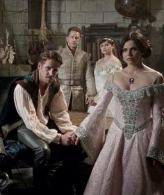 Robin, David, Mary Margaret, Regina in Once Upon A Time 5x02