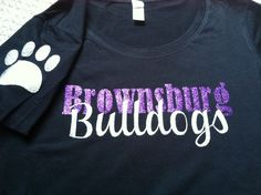 Paw print on the sleeve purple glitter