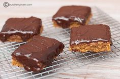 Peanut Butter Bars with Chocolate Frosting