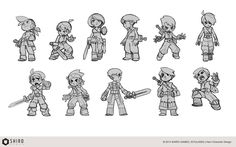 """artofkuru:  Some early concept arts for""""Kuro"""" (evoland 2)I think I'll post more stuff from the game really soon, mostly characters though."""