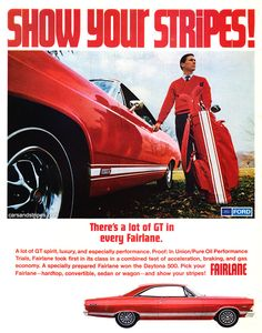 1967 Ford Fairlane - There's a lot of GT in every Fairlane - Original Ad
