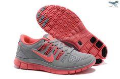 580531-061 Running Wolf Grey Bright Crimson Nike Free Run 4 Womens