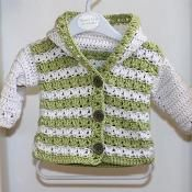 Crochet PATTERN (pdf file) - Sorrento Hooded Cardigan (now available for months), via Etsy. Crochet Baby Sweaters, Crochet Baby Clothes, Baby Knitting, Loom Knitting, Free Knitting, Gilet Crochet, Crochet Cardigan, Knit Crochet, Crochet Granny