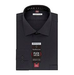 Van Heusen Men's Flex Collar Stretch Regular Fit Spread Collar Solid Dress Shirt