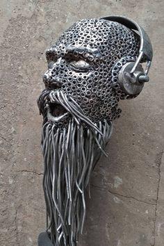 Welded Metal Projects, Welding Art Projects, Metal Crafts, Recycled Metal Art, Scrap Metal Art, Heavy Metal Art, Satanic Art, Trash Art, Metal Art Sculpture