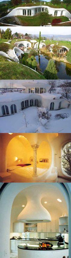 Les maisons organique de l'architecte suisse Peter Vetsch.